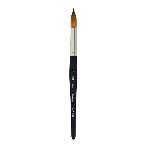 Princeton Elite NextGen Artist Brush, Series 4850 Synthetic Kolinsky Sable for Watercolor, Round, Size 16 (Princeton Red Sable Brush)