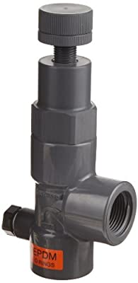 "Hayward PVC Pressure Relief Valve, EPDM Seal, 5 to 75 psi Pressure Range, 3/4"" Threaded from Hayward"