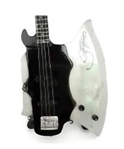 Kiss Miniature Guitar - Gene Simmons - Axe Bass - Wood Replica 10 Inches
