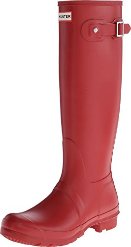 Hunter Women's Original Tall Military Red Rain Boots - 9 B(M) US