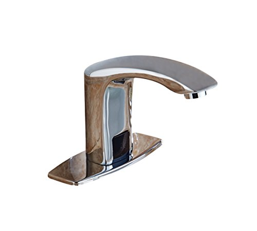 Greenspring Commercial Touch-Free Faucet Automatic Sensor Bathroom Sink Faucet Hot Cold Mixer Faucet Chrome, Just use battery