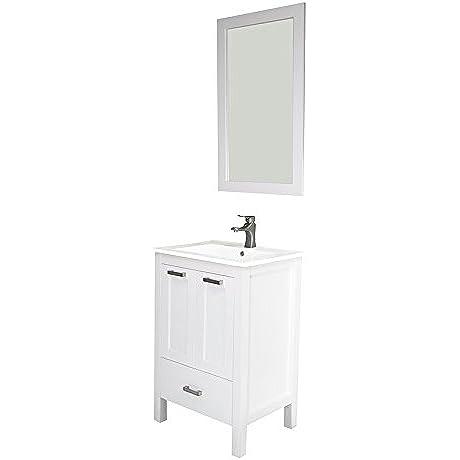 Albani 24 White Solid Doors Ceramic Sink