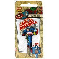 Marvel Comics House Key - CAPTAIN AMERICA - UL2 fits 99% of doors Keys-Cut