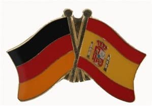 Amistad yantec Pin Alemania-España Bandera de: Amazon.es: Deportes y aire libre