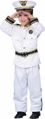 Dress Up America 144365 Navy Admiral Deluxe Child Costume Size: Small (Deluxe Kid's Navy Admiral Costumes)