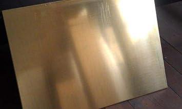1 Pc of Brass Sheet Plate .125 10 gauge 6 x 12