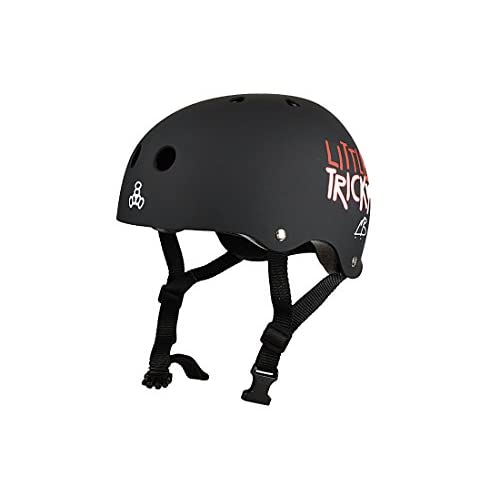 Triple 8 little tricky v2 black rubber casque pour enfant taille xXS/xS