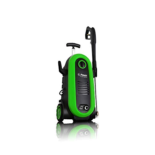 POWER Pressure Washer 2200 PSI Electric 1.76 GPM Brushless Induction Technology | The Next Generation of Pressure Washer | 4X More Lifespan | Ultra Low Sound | New Design | Power Efficient (Green) Review