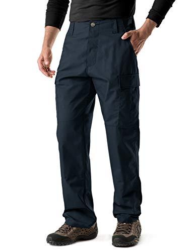CQR Men's ACU/BDU Rip Stop Trouser EDC Tactical Combat Pants, Brigade Pants(ubp02) - Navy, Medium(W32-36)-Regular ()