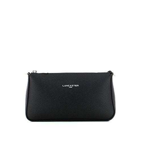 Noir cm Adele Lancaster cuir Schwarz Minibag bandoulière Sac 23 xB0AqYAwd