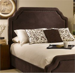 Hillsdale Furniture 1554HKRC Carlyle Headboard with Rails, King, Chocolate