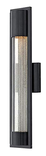Hinkley 1224SK Contemporary Modern One Light Outdoor Wall Mount from Mist collection in Blackfinish,