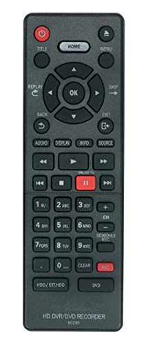 AULCMEET NC266UH NC266 Remote Control Compatible with MAGNAVOX HD DVR/DVD Recorder MDR868H MDR867H MDR865H MDR865H/F7 MDR867H/F7 MDR868H/F7