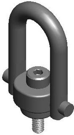 American Drill Bushing SHR-23053 Safety-Engineered Swivel Hoist Ring ADB Hoist Ring, Load=1