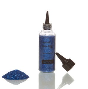 Glimmer Body Art Glitter Tattoo Royal Blue Body Glitter Refill ()