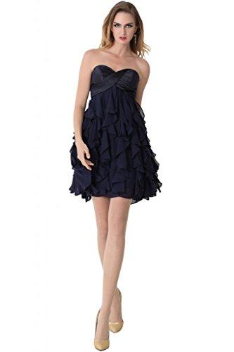 sunvary corto tejido de raso Party vestidos de cóctel con appliques Lovely morado