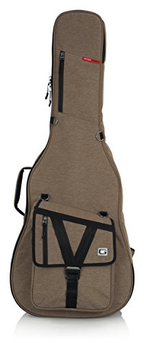 Gator Cases Transit Series Acoustic Guitar Gig Bag; Tan Exterior (GT-ACOUSTIC-TAN)