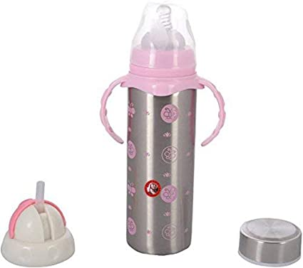 0fceb7ecbb6 GURU KRIPA BABY PRODUCTS ® Presents Multi Functional Stainless Steel Feeding  Bottle Cum Straw Cum Sipper