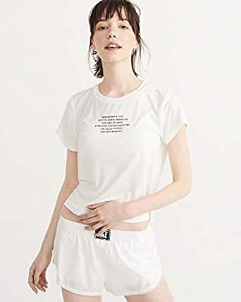 Abercrombie & Fitch White Round Neck T-Shirt For Women