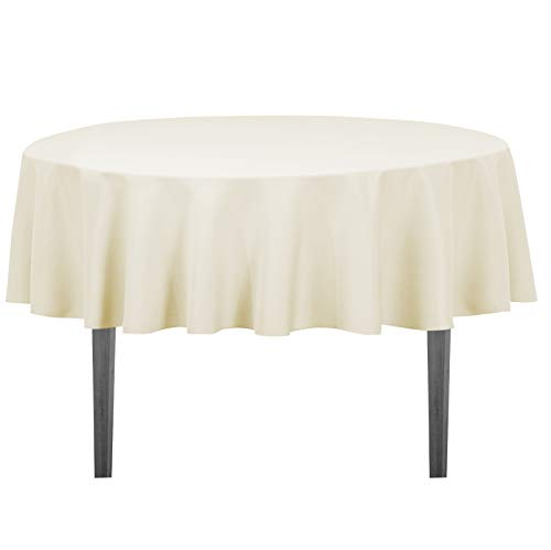(LinenTablecloth 70-Inch Round Polyester Tablecloth)