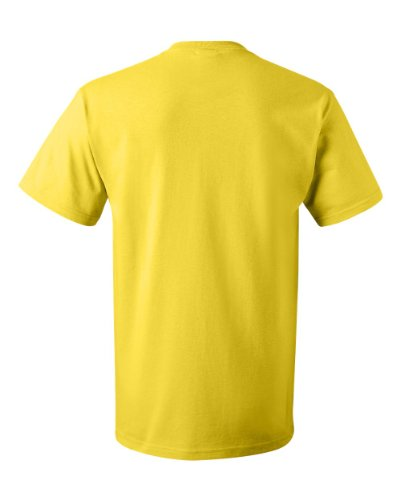 Fruit of the Loom Men's Short Sleeve Crew Tee, Large  - Yellow