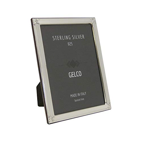 - Gelco Italian 925 Sterling Silver Picture Frame with Floral Chased Corners (4X6)