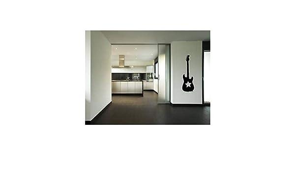 Lkfqjd Rockstar Guitar Music Etiqueta De La Pared Etiqueta Engomada De La Decoración Home Vinyl Art Decal Wall Poster Paper105 * 35 Cm: Amazon.es: Bricolaje y herramientas