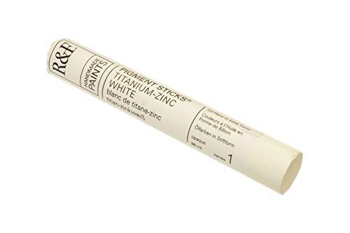 R&F Handmade Paints Oil Pigment Stick, 38ml, Titanium-Zinc White