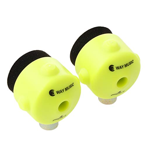 CUTICATE 2pcs Drum Quick-Set Cymbal Mate for Drum Kit Replacement Parts - green, 3x3x3cm