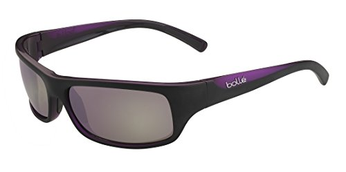 (Bolle Fierce Sunglasses, TNS Gun, Shiny Black/Purple)