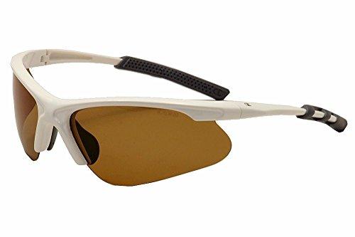 (Champion Men's White polycarbonate Rectangular Sunglasses)