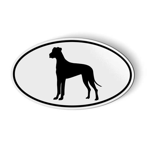 (Great Dane Oval - Magnet for Car Fridge Locker - 5.5