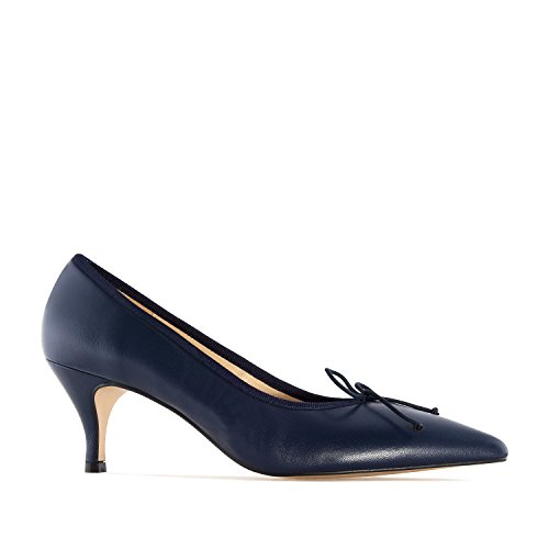Andres Machado.julia.fine Scarpe Con Tacco In Pelle Made.made In Spain.womens Petite & Large Szs: Us 2 To 5 -us 10.5 A 13 Navy Leather
