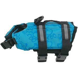 XS bluee bone XS bluee bone Pet Lifejacket Reflective Outdoor Clothing Small and Medium-Sized Dog Safety Clothing Pattern Dog,bluee Bone,XS