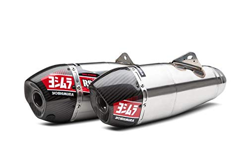 18-19 HONDA CRF250R: Yoshimura RS-9T Complete Exhaust With Stainless Header - Dual (Signature/Stainless With Carbon Fiber End - Complete Yoshimura System