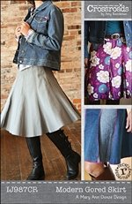 Modern Gored Skirt Pattern By Indygo Junction All Sizes Included