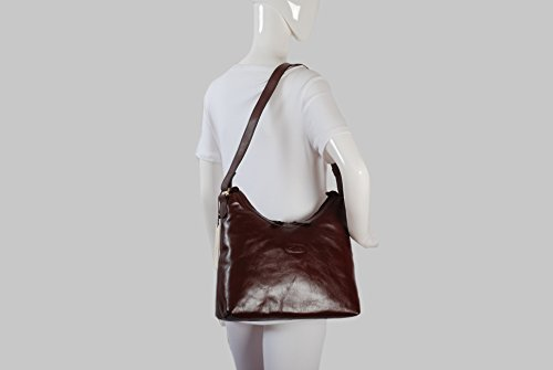 Marron Grand sac à main portéépaule en cuir visite Ashwood Leather Sac à dos