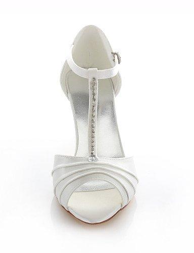 3 Boda 4in Sandalias ivory 3 ivory 4in 2in y 2 GGX Noche Punta Vestido de Mujer 2 Tacones Marfil Zapatos boda Redonda 2in Fiesta qTtaT0wW