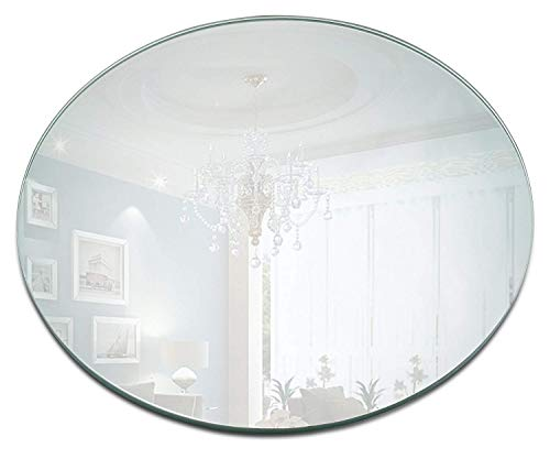 Round Mirror Plate - Set of 12 Round Mirror Trays - 8 inch Diameter, 1.5 mm Thick Rounded Edge - Perfect for Table, Wedding Centerpieces, Wall Decor, Crafts ()