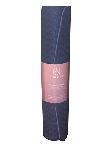 A Tiny Bit Fit Yoga mat with a Double Layer Thick 6mm eco-Friendly, Non-Toxic TPE Material for an Anti-Allergic and Anti-Slip Exercise mat Used by Professionals (Teal)