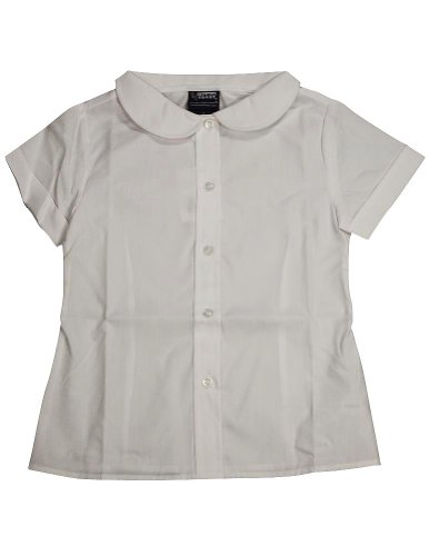 UPC 616868012224, French Toast - Girls Short Sleeve Peter Pan Blouse, White 33142-4