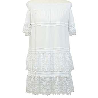 Gh Design Tunic Top For Women - M, White