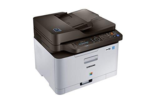 Samsung Xpress C480FW/TEG Farblaser-Multifunktionsgerät (Drucken, Scannen, Kopieren, Faxen, 2.400 x 600 dpi, 128 MB Speicher, 800 MHz Prozessor) grau/schwarz