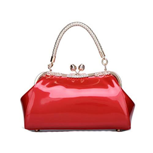 Pelle Cmbyn Brillantini Fashion Pratico Rosso Pacchetto Luccicanti Nuovo Borsetta Monocolore Spalla verniciata Borse Donna wWwrTqnvg0