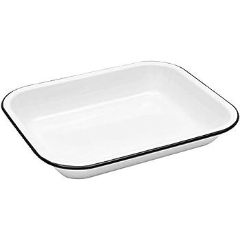 Amazon Com Enamelware Large Roasting Pan Solid White