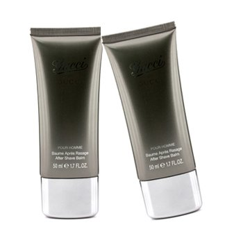 6a2970e1140 Amazon.com   Gucci By Gucci Pour Homme After Shave Balm Duo Pack (Unboxed)  - 2x50ml 1.7oz   Aftershave   Beauty