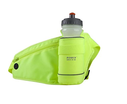 Price comparison product image VRLEGEND Sports Waist Bag Waist Pack Money Belt with Water Bottle Holder for Running / Biking / Climbing Compatible with iPhone 7 / 7plus / 6 / 6S / 6plus / 6splus Galaxy S6 S6 Edge S7 S7 edge etc (Green)