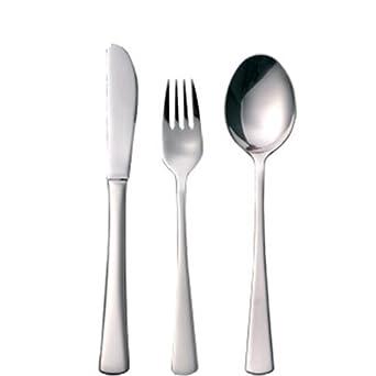 Olympia S386 cuchillo de mesa, tenedor y cuchara desierto ...