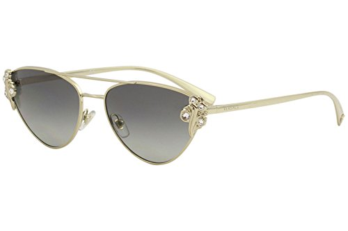 Versace Women's VE2195B Pale Gold/Grey Gradient One Size (Sunglasses Valentino Versace)