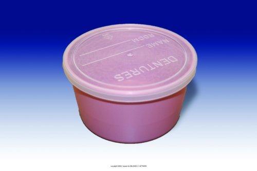 Denture Cup, Denture Cup W-Lid Plstc Mauve, (1 PACK, 25 EACH)